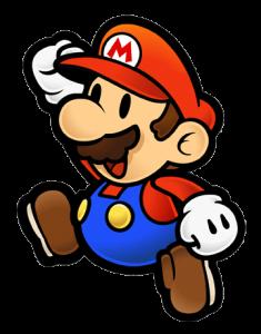 Mario dans sa forme Mario Paper