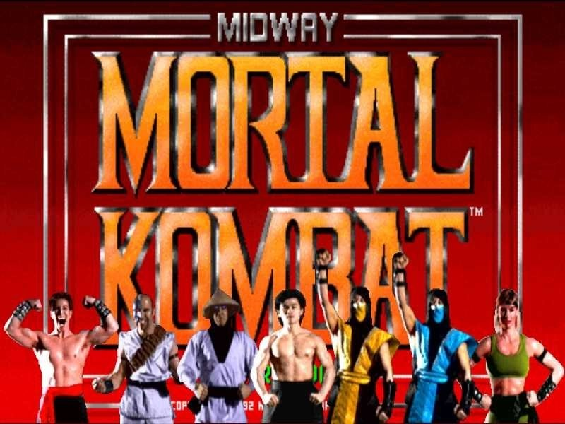 Ecran d'entrée du jeu Mortal Kombat sur MegaDrive avec personnages