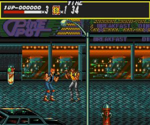 Screenshot du niveau 1 de Streets of Rage