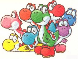 Des Yoshis de toutes les couleurs