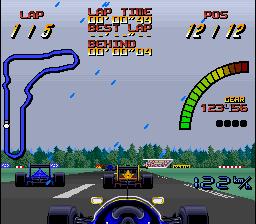Une capture d'écran en course du jeu Nigel Mansell's World Championship