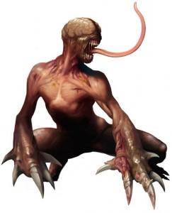 L'écorché, ou licker, monstre phare de Resident Evil 2