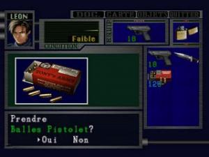L'inventaire des armes et objets dans Resident Evil 2