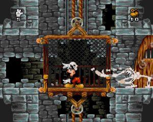 L'ennemi squelette dans le jeu Mickey Mania