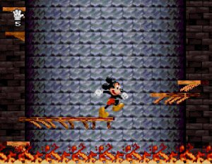 Le niveau en 3D de la tour dans le jeu Mickey Mania
