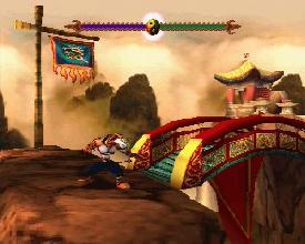 Le niveau de la montagne dans le jeu Tai Fu sur Playstation