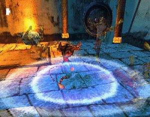 Illustration de la technique de l'explosion Chi dans le jeu Tai Fu sur Playstation