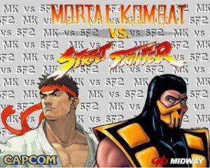 Ryu de Street Fighter et Scorpion de Mortal Kombat s'affrontent