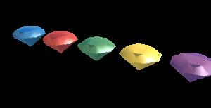 Les gemmes de couleur dans Crash Bandicoot sur Playstation