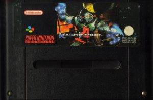 La cartouche noire du jeu Killer Instinct sur Super Nintendo