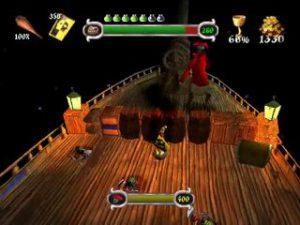 Le capitaine des pirates, boss du niveau le Vaisseau Fantôme dans Medievil sur Playstation