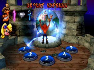 Première salle du jeu Crash Bandicoot 3 Warped sur Playstation