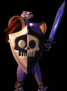 Sir Daniel Fortesque, héros du jeu MediEvil sur Playstation