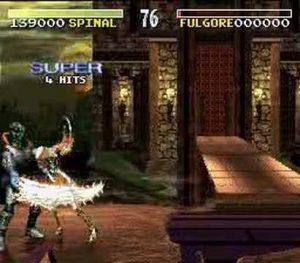 Spinal lance un combo dans Killer Instinct sur Super Nintendo