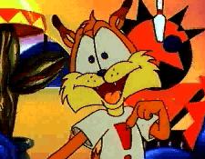 Le petit chat lynx Bubsy dans son dessin animé