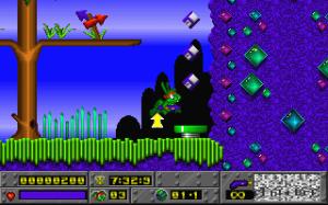 Objets bonus dans le jeu Jazz Jackrabbit sur PC