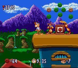 Premier monde du jeu Bubsy, sur Mega Drive et la SNES