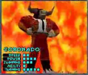 Le personnage Coronado le taureau dans le jeu Running Wild