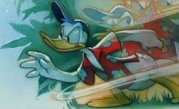 Donald Duck dans son personnage du détective Maui Mallard