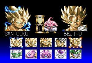 Les dix personnages du jeu Dragon Ball Z Hyper Dimension sur super nintendo