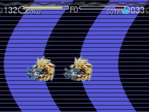 Transfert entre deux plans dans le jeu Dragon Ball Z Hyper Dimension