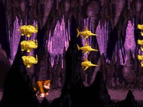 Une zone bonus dans le jeu retro Donkey Kong Country sur Super Nintendo