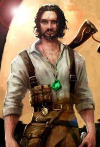 Peinture de Patrick Galloway, héros du jeu vidéo Clive Barker's Undying