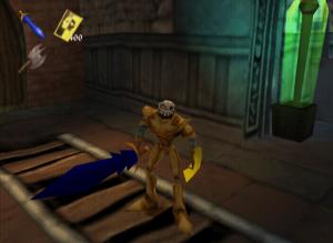 Le bouclier d'or et l'armure d'or dans le jeu Medievil 2 sur Playstation