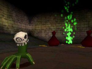 La capacité de la main verte et de la tête dans le jeu Medievil 2 sur Playstation