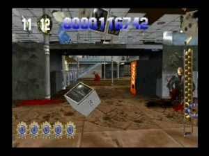 Screenshot du jeu de shoot dans Die Hard Trilogy sur PS1