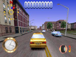 Screenshot du jeu de course dans le jeu rétro Die Hard Trilogy