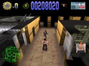 Niveau en bureaux dans Die Hard Trilogy sur PS1
