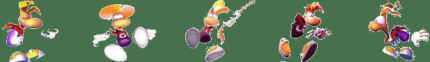 Frise de Rayman dans différentes situations