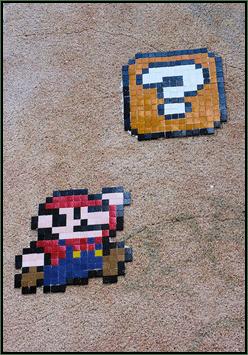Pixel Art de Mario à Nantes