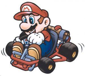 Super Mario sur son karting