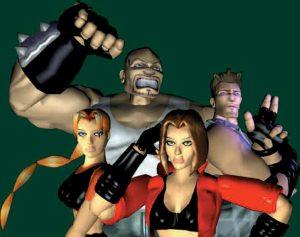 Personnages jouables du jeu Fighting Force sur PS1