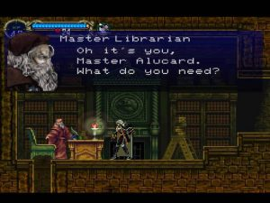 Le bibliothécaire du jeu Symphony of the Night sur Playstation