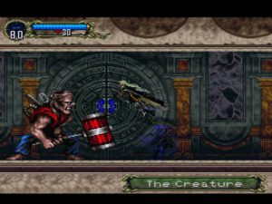 Le boss Frankenstein dans Castlevania Symphony of the Night