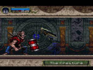 Le boss Frankenstein dans Castlevania Symphony of the Night