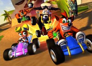 Crash Bandicoot, Coco et Neo Cortex en kart