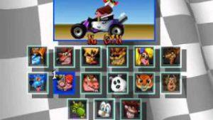Personnages jouables du jeu Crash Team Racing CTR sur PS1