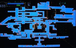 Plan du château dans le jeu Castlevania Symphony of the Night