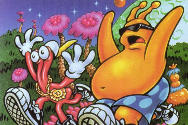 ToeJam and Earl dans le jeu Panic on Funkotron