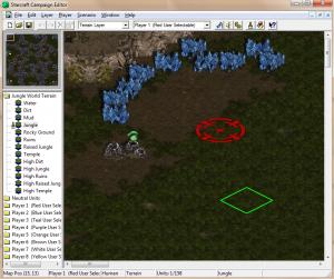L'éditeur de campagne du jeu StarCraft 1 sur PC