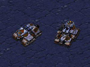 Le char terran, unité dans le jeu StarCraft sur PC