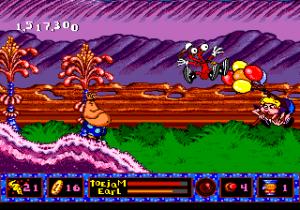 Un humain volant dans Panic on Funkotron sur MegaDrive Sega