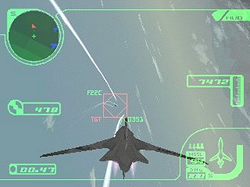Screenshot du jeu Ace Combat 3 sur Playstation
