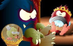 Evil Tiny, le méchant de Fury of the Furries sur PC DOS