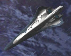 L'avion R352 Sepia dans Ace Combat 3 sur Playstation