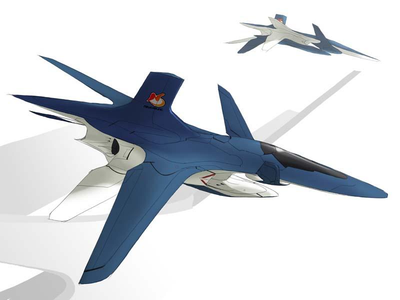 Le Delphinus, un avion futuriste du jeu Ace Combat 3 sur Playstation